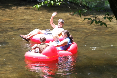 Tubing at Deep Creek, fun things to do in the smokies, family fun in Bryson City, NC